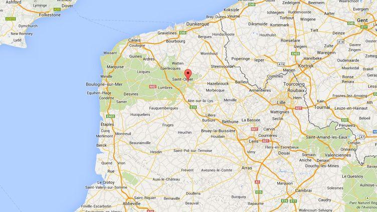 Une femme est soupçonnée d'avoir laissé son enfant dans la chambre froide d'une boîte de nuit, dans la nuit du dimanche 20 au lundi 21 avril 2014, à Arques (Pas-de-Calais.) ( GOOGLE MAPS / FRANCETV INFO )