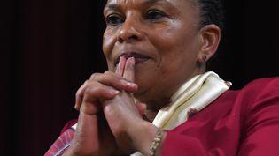 L'ancienne ministre de la Justice, Christiane Taubira, en janvier 2016. (JEWEL SAMAD / AFP)