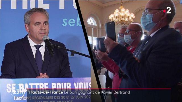 Régionales : Xavier Bertrand victorieux, LREM et le RN à la traine