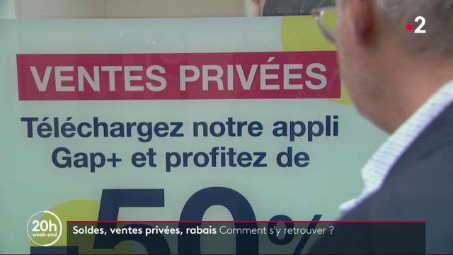 Soldes, ventes privées : un casse tête pour les commerçants
