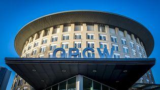 Une vue extérieure de l'Organisation pour l'interdiction des armes chimiques, le 15 novembre 2013 à La Haye (Pays-Bas). (LEX VAN LIESHOUT / ANP / AFP)