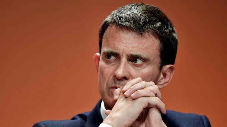 Manuel Valls, le 5 mai 2017, à Paris. (PHILIPPE LOPEZ / AFP)
