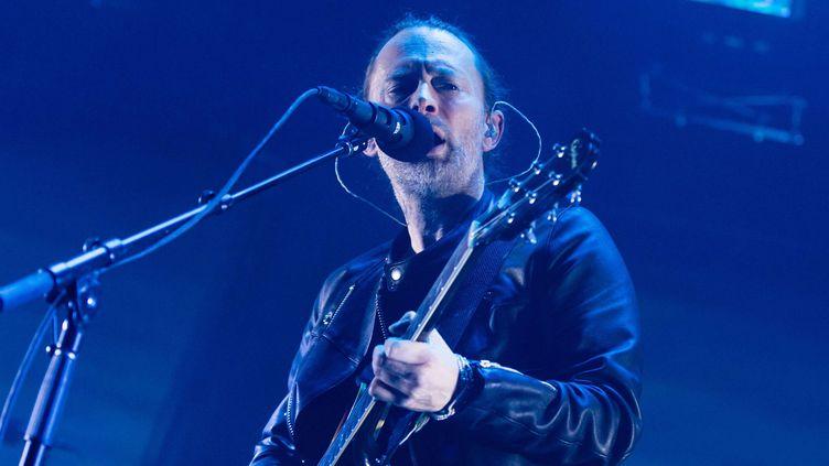 Thom Yorke sur scène au Roundhouse (Londres), le 26 mai 2016.  (Richard Isaac/Shutterst/SIPA)