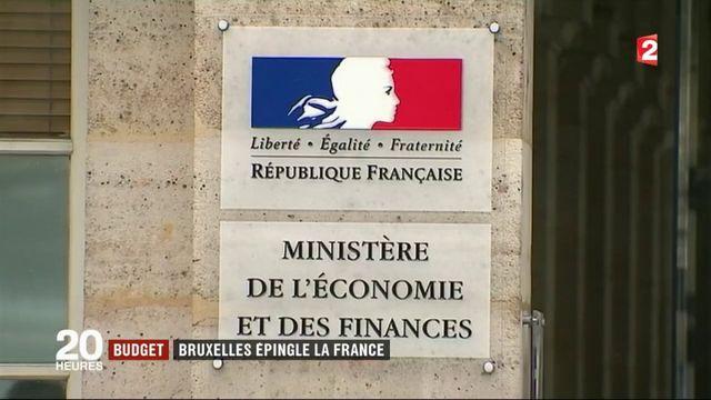 Budget : Bruxelles épingle la France
