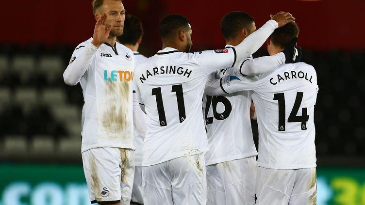Les joueurs de Swansea (GEOFF CADDICK / AFP)