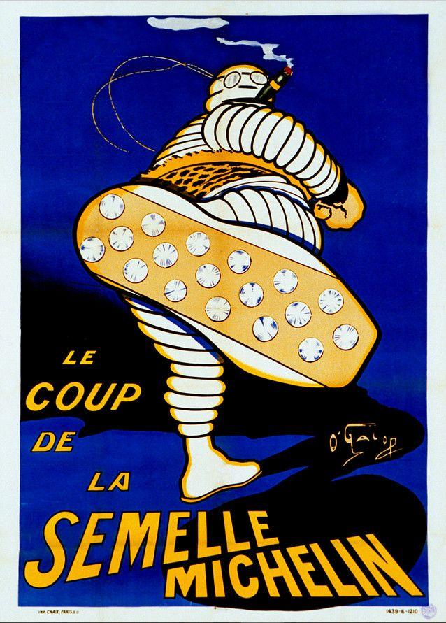 Affiche vantant la semelle Michelin (DR)
