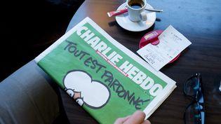 "Le ""numéro des survivants"" de ""Charlie Hebdo"", le 14 janvier 2015. (XAVIER FRANCOLON / SIPA)"