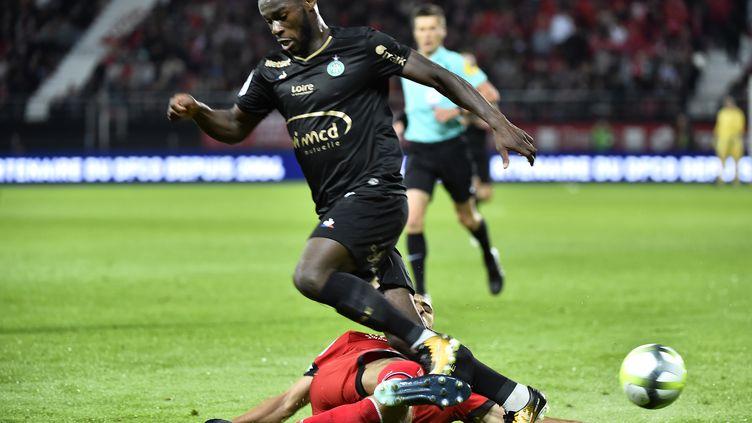 Jonathan Bamba lors du match de Saint-Étienne contre Dijon. (ROMAIN LAFABREGUE / AFP)