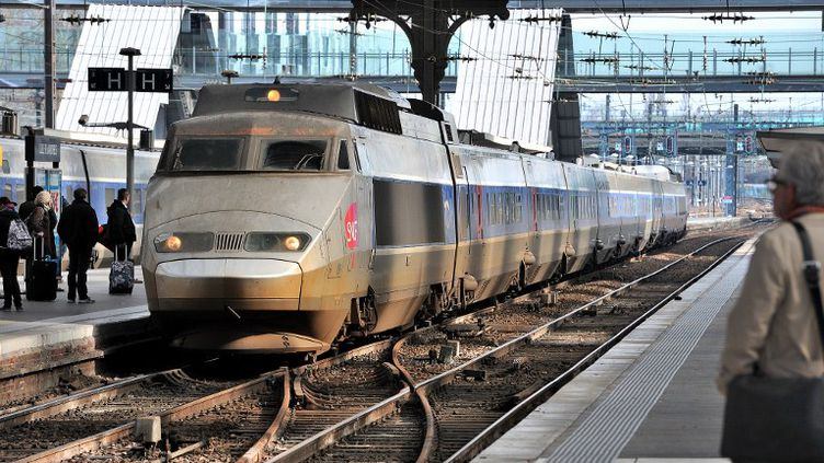 Un TGV en gare de Lille (Nord), le 6 mars 2012. (PHILIPPE HUGUEN / AFP)