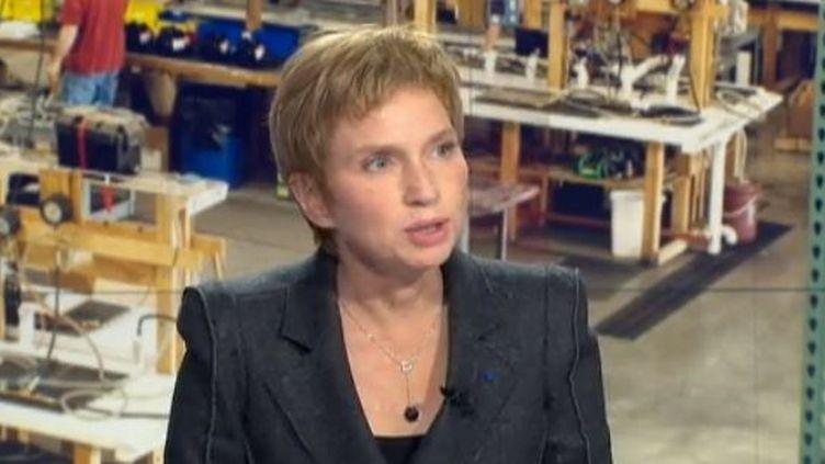 La présidente du Medef, Laurence Parisot, a estimé mardi 6 novembre 2012 avoir été entendue après les annonces faites par le Premier ministre Jean-Marc Ayrault pour relancer la compétitivité en France. Elle était l'invitée du JT de 20h France 2. ( FRANCE 2)