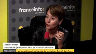 Adeline Hazan, contrôleuse générale des lieux de privatisation de liberté, le 26 septembre 2017. (FRANCEINFO)