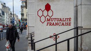 Le siège de la Fédération nationale de la Mutualité Française, qui regroupe la majorité des mutuelles de santé, est photographié le 14 janvier 2019 rue de Vaugirard à Paris. (RICCARDO MILANI / AFP)