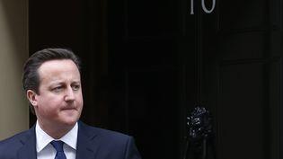 Le Premier ministre britannique, David Cameron, sort sur le perron du 10 Downing Street, le 21 janvier 2013 à Londres (Royaume-Uni). (SUZANNE PLUNKETT / REUTERS)