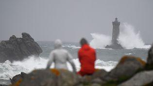 La tempête Amélie a frappé la façade atlantique dimanche 3 novembre 2019. (DAMIEN MEYER / AFP)