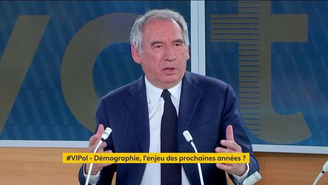 """""""Lorsque vous acceptez que, dans votre pays, il y ait une population vieillissante, alors vous acceptez que son dynamisme décline"""" déclare François Bayrou"""