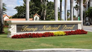 "Le golf ""Trump National Doral"" de Donald Trump à Miami, en Floride (Etats-Unis), le 3 avril 2018.  (MICHELE EVE SANDBERG / AFP)"