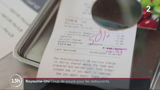 Royaume-Uni : le gouvernement paie la moitié de votre note au restaurant