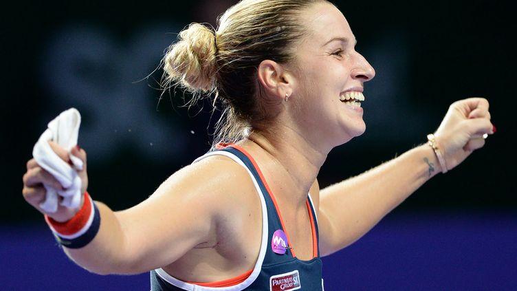 La joie de Dominika Cibulkova  (ROSLAN RAHMAN / AFP)