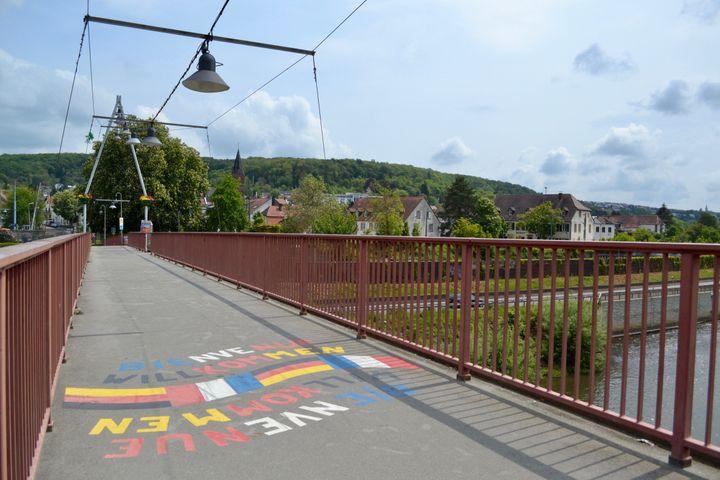 La frontière est désormais symbolique entre la France et l'Allemagne. (NOEMIE BONNIN / RADIO FRANCE)
