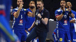 Les Bleus se sont qualifiés pour le Championnat d'Europe 2022 de handball, qui se déroulera du 13 au 30 janvier prochain. (SYLVAIN THOMAS / AFP)