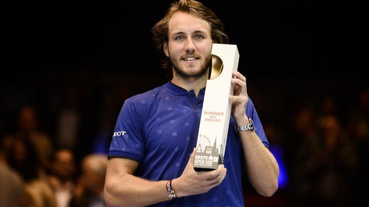 Lucas Pouille vient de remporter l'ATP 500 de Vienne. (OMAR MARQUES / ANADOLU AGENCY)