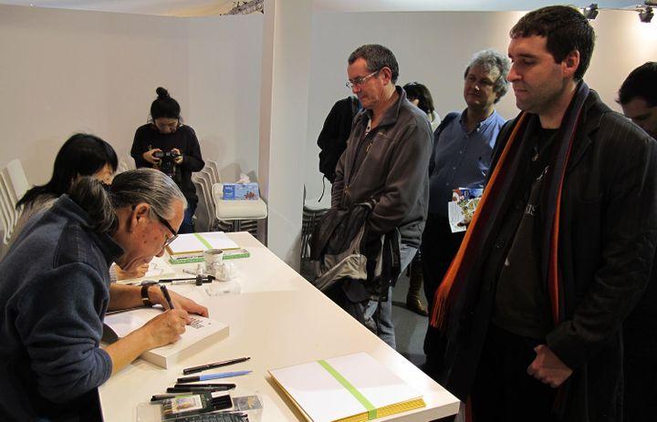 Vincent, un fan de BD coréeenne  (Laurence Houot/ Culturebox)
