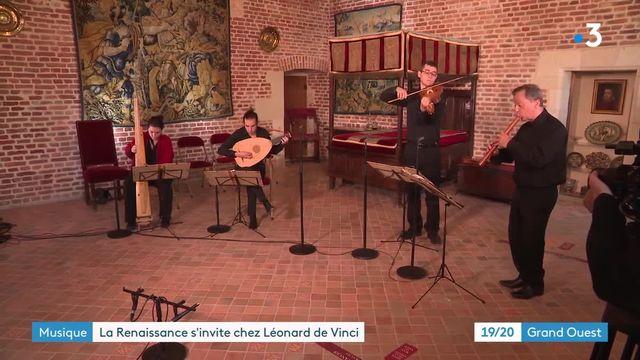 """Au Clos-Lucé, le groupe """"Doulce Mémoire"""" faire revivre un instrument de Léonard de Vinci"""