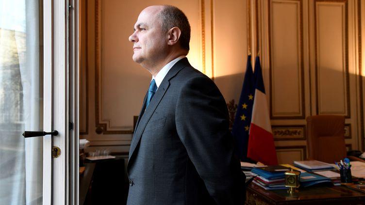Bruno Le Roux au ministère de l'Intérieur, à Paris, le 21 mars 2017. (BERTRAND GUAY / AFP)