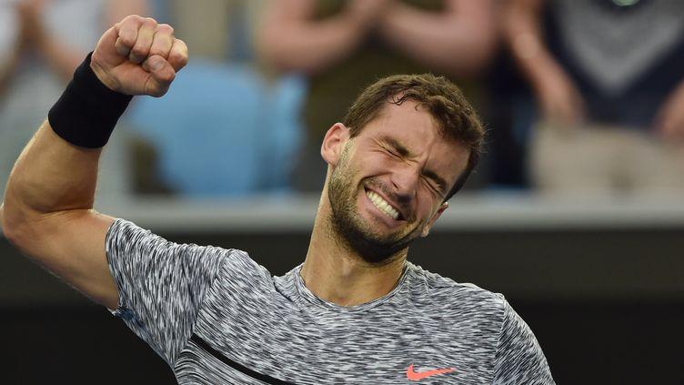 Le joueur bulgare Grigor Dimitrov (PAUL CROCK / AFP)