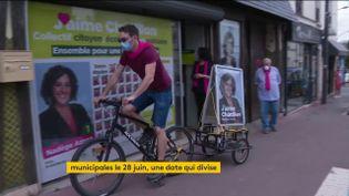 A Châtillon, la campagne électorale se fait à vélo (FRANCEINFO)