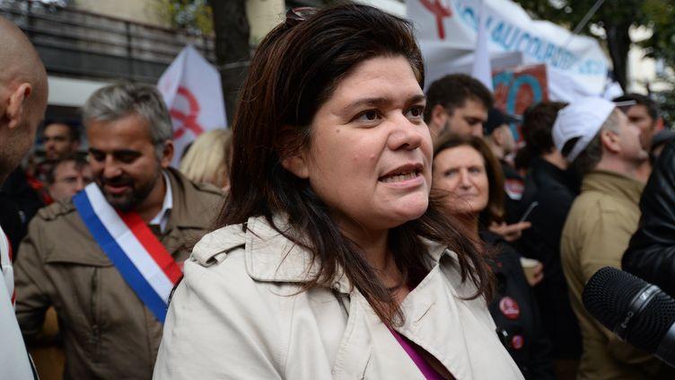 Raquel Garrido participe à une manifestation à Paris, le 12 septembre 2017. (PASCAL VANDON / CITIZENSIDE / AFP)