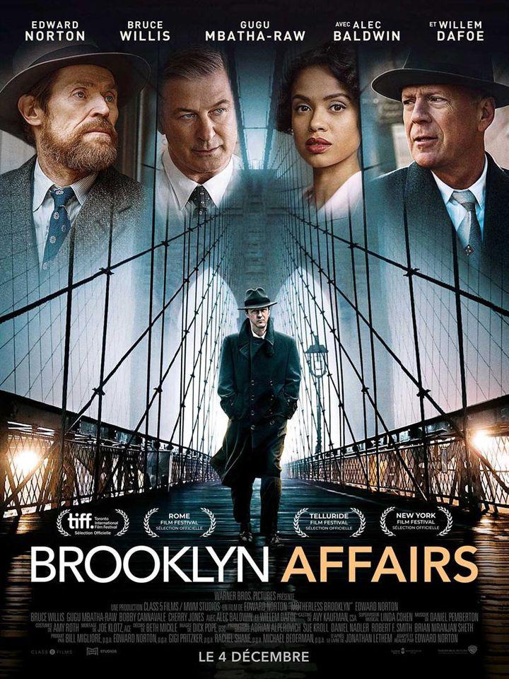 """L'affiche de """"Brooklyn Affairs"""" de Edward Norton. (Warner Bros. France)"""
