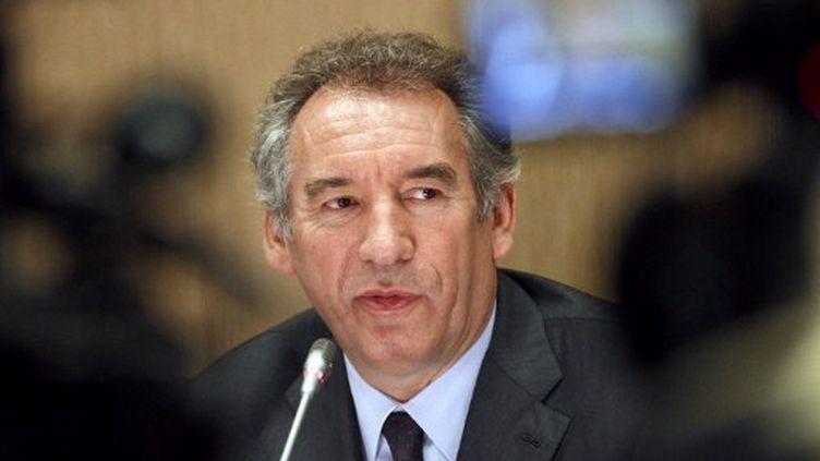 François Bayrou lors d'une conférence de presse à l'issue du conseil national du Modem, le 09 juillet 2011 à Paris. (AFP - François Guillot)