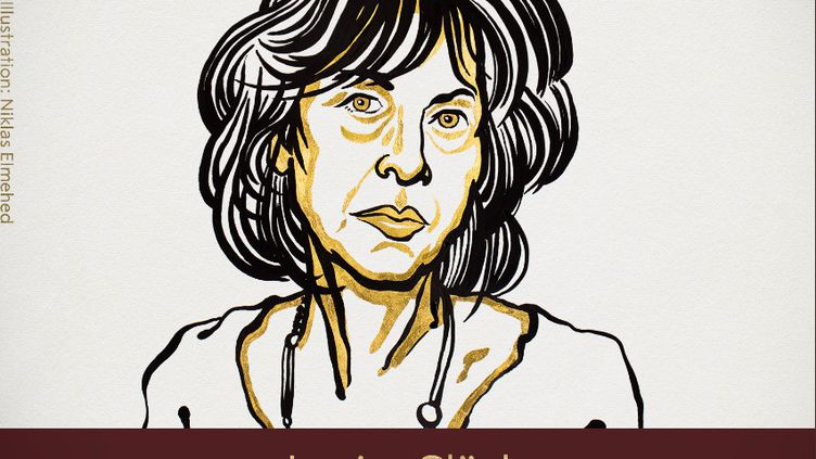 Dessin représentant Louise Glück, prix Nobel de littérature 2020. (COMITE NOBEL)