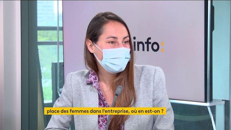 """Léa Lejeune, journaliste et autrice de """"Féminisme washing"""", vendredi 21 mai 2021. (FRANCE INFO / RADIO FRANCE)"""