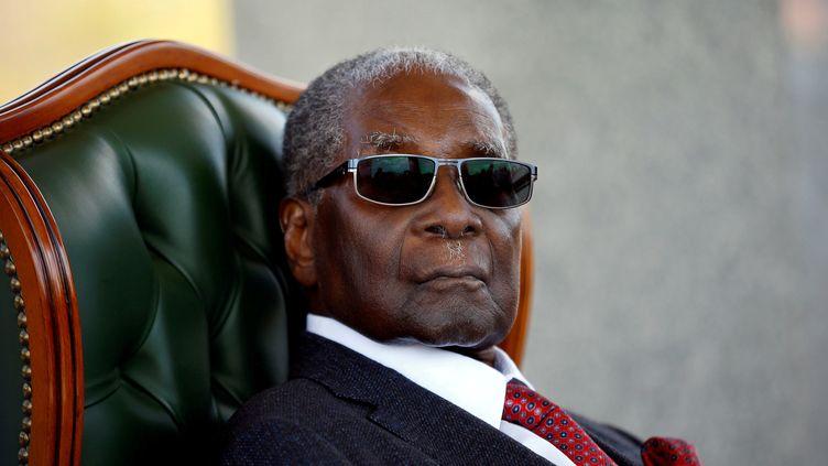 L'ancien président du Zimbabwe, Robert Mugabe, le 29 juillet 2018, à Harare. (SIPHIWE SIBEKO / REUTERS)