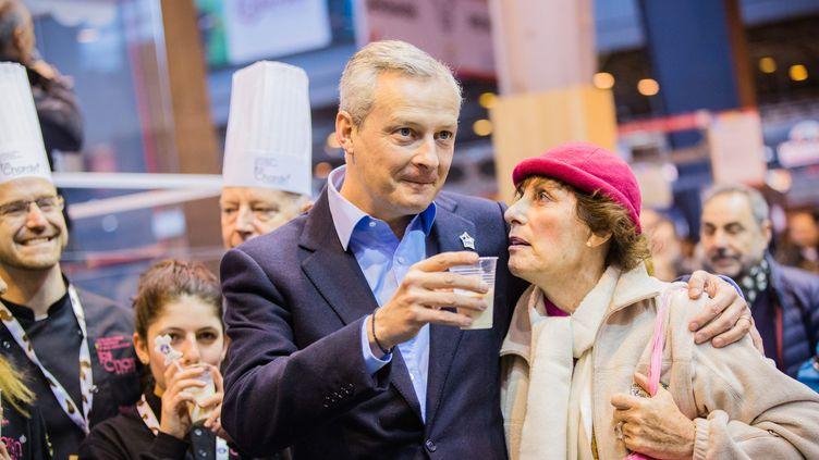 Le candidat à la primaire de la droite et du centre Bruno Le Maire, mardi 1er mars au Salon de l'agriculture, à Paris. (MAXPPP)