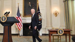 Le président américain, Joe Biden, à la Maison Blanche, le 24 février 2021. (SAUL LOEB / AFP)