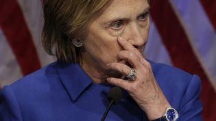 Hillary Clinton, le 16 novermbre 2016, à Washington. (YURI GRIPAS / AFP)