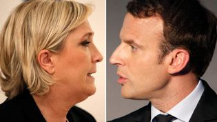 Marine Le Pen et Emmanuel Macron en 2017. (CHARLES PLATIAU / X00217)