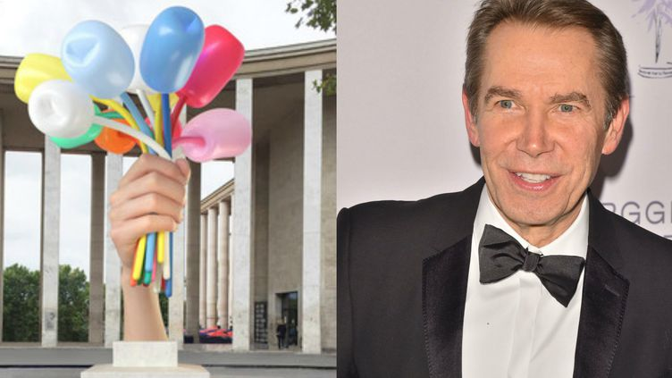 "Le ""Bouquet of Tulips"" dont Jeff Koons a fait don à Paris au lendemain des attentats de novembre 2015  (Jeff Koons Courtesy / H. Walker/Shutterstock/SIPA)"