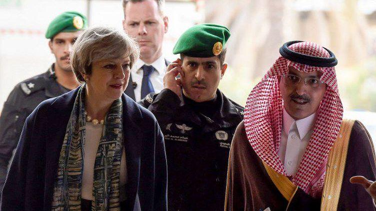 Theresa May en Arabie Saoudite (FAYEZ NURELDINE / POOL / AFP)