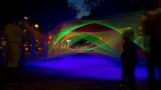 Nuit blanche 2016 à Paris : installation de Sebastien Preschoux  (Xavier Francolon/SIPA)