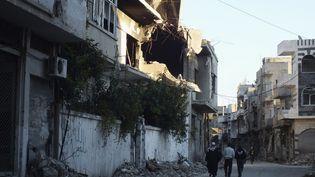 Le centre-ville de Homs en Syrie, le 15 mars 2014. (YAZAN HOMSY / REUTERS)