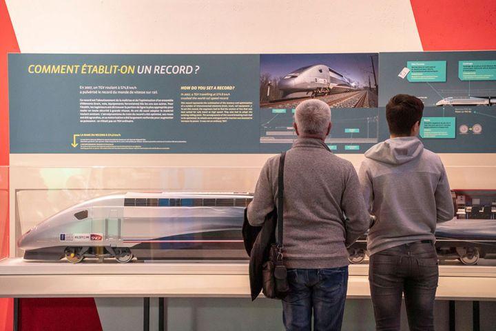 ExpositionGrande vitesse ferrovaireà la Cité des sciences à Paris. (Universcience. Photo : E.Laurent)