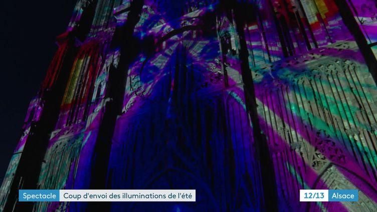 Illuminations sur la cathédrale de Strasbourg (France 3 Alsace)