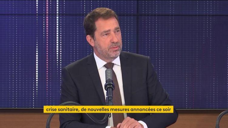 Christophe Castaner, président du groupe La République en marche à l'Assemblée nationale, était l'invité de franceinfo le jeudi 18 mars 2021. (FRANCEINFO / RADIOFRANCE)