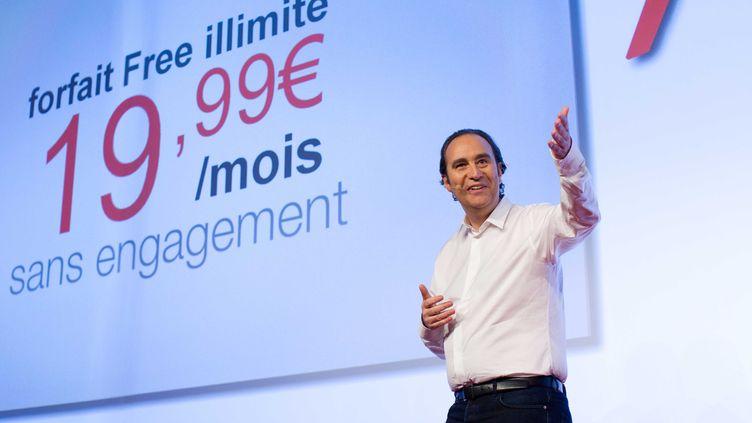 Xavier Niel, le fondateur de Free, le 10 janvier 2012 à Paris. (PRM / SIPA)
