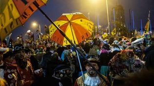 Le carnaval de Dunkerque en février 2020. (JEREMIE LUSSEAU / HANS LUCAS via AFP)