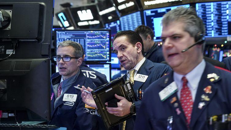 Le New York Stock Exchange (NYSE) à New York (Etats-Unis), le 2 janvier 2018. (DREW ANGERER / GETTY IMAGES NORTH AMERICA)